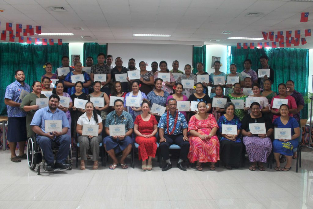 Samoa In-Country Training Programme: Project Management Training