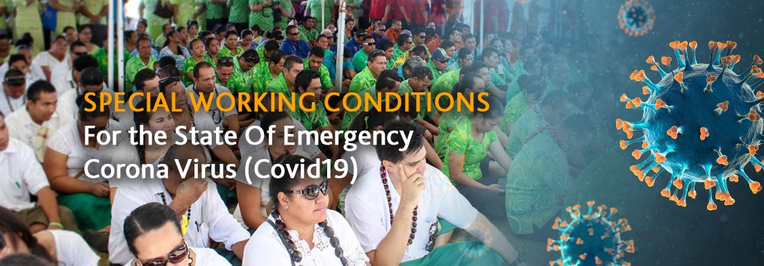 Special Working Conditions for The State Of Emergency For Corona Virus (Covid19)