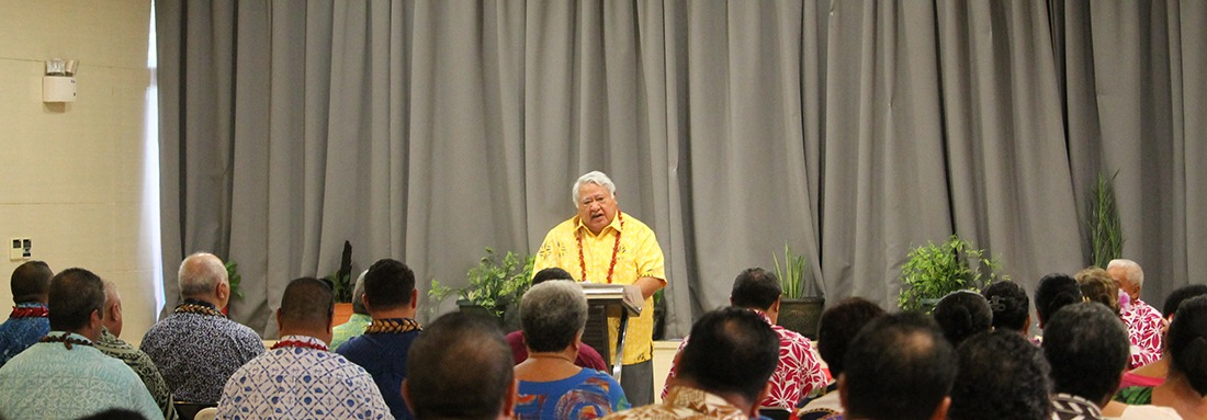 Prime Minister Tuilaepa Sailele Malielegaoi reminded all CEO's at the chief executive forum of their oath and duty as public servants