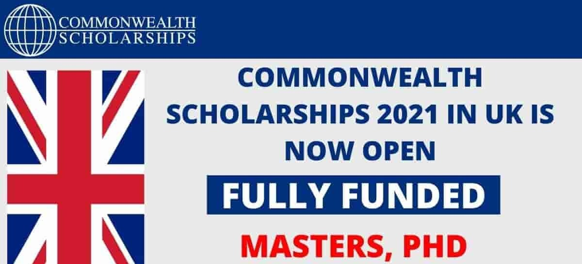 2021 Commonwealth Scholarships in the United Kingdom for 2021